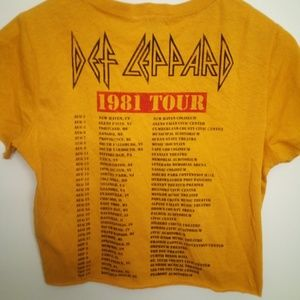 NWT Def Leppard Band Tee 1981 Tour Medium